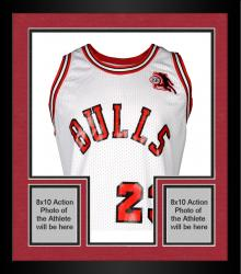 Framed Michael Jordan Chicago Bulls Autographed White Jersey with ROY Patch - Limited Edition of 123