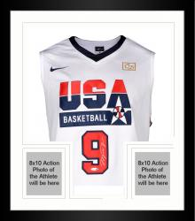 Framed Michael Jordan Team USA 1992 Summer Olympics Autographed White Jersey
