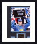 Framed Michael Waltrip Matted 8x10 Photograph with Autographed Cut Piece