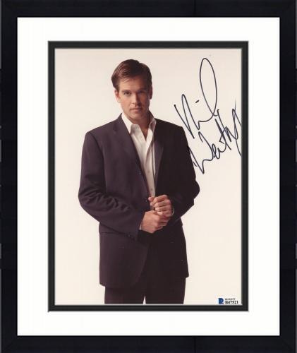 "Framed Michael Weatherly Autographed 8"" x 10"" Posing Photograph - Beckett COA"