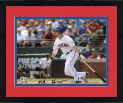 "Framed Michael Young Texas Rangers Autographed 8"" x 10"" Cameraman Photograph"