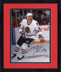 "Framed Michel Goulet Chicago Blackhawks Autographed 8"" x 10"" Photograph"