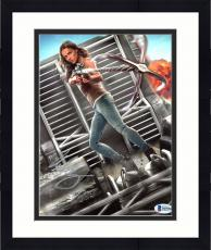"Framed Michelle Rodriguez Autographed 8"" x 10"" The Fast & Furious Holding Anchor Photograph - Beckett COA"
