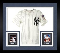 Framed Mickey Mantle Autographed Mitchell & Ness New York Yankees #7 Jersey