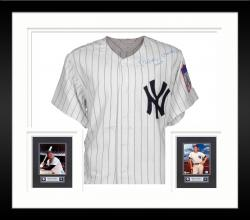 Framed Mickey Mantle New York Yankees Autographed Cooperstown Collection Jersey with No.7 Inscription