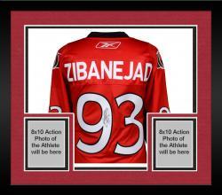 Framed Mika Zibanejad Ottawa Senators Autographed Red Reebok Premier Jersey