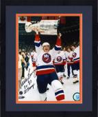 Framed Mike Bossy New York Islanders Autographed 8'' x 10'' Photograph with ''80-83 SC Champs'' Inscription