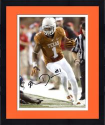 Framed Mike Davis Texas Longhorns Autographed 8'' x 10'' Orange Uniform Vertical Photograph