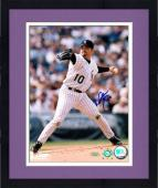 """Framed Mike Hampton Colorado Rockies Autographed 8"""" x 10"""" Pitching Photograph"""