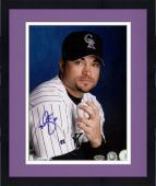 "Framed Mike Hampton Colorado Rockies Autographed 8"" x 10"" Pose Photograph"