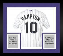 Framed Mike Hampton Colorado Rockies Autographed Jersey