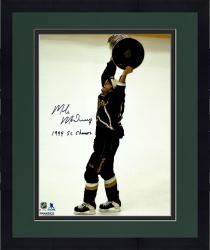 "Framed Mike Modano Dallas Stars Autographed 16"" x 20"" Raising Cup Photograph With 1999 SC Champs Inscription"