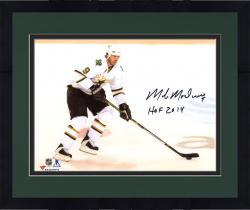 """Framed Mike Modano Dallas Stars Autographed 8"""" x 10"""" White Horizontal Photograph With HOF 2014 Inscription"""