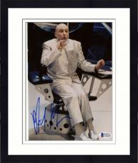 "Framed Mike Myers Autographed 8""x 10"" Austin Powers Dr. Evil Sitting In Chair Photograph - Beckett COA"
