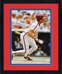 "Framed Mike Schmidt Philadelphia Phillies Autographed 16"" x 20"" Batting Photograph"