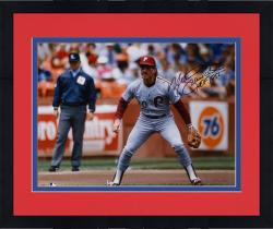Framed Mike Schmidt Philadelphia Phillies Autographed 16'' x 20'' Grey Fielding Photograph with HOF 1995 Inscription
