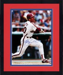 """Framed Mike Schmidt Philadelphia Phillies Autographed 16"""" x 20"""" Looking at Ball Photograph"""