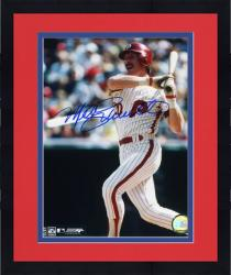 "Framed Mike Schmidt Philadelphia Phillies Autographed 8"" x 10"" Blue Signature Photograph"
