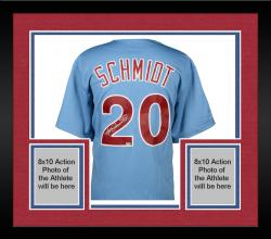 Framed Mike Schmidt Philadelphia Phillies Autographed Majestic Cooperstown Replica Blue Jersey