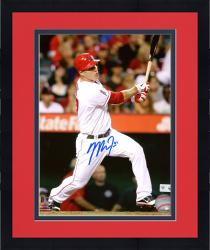 "Framed Mike Trout Los Angeles Angels of Anaheim Autographed 8"" x 10"" Hitting Photograph"