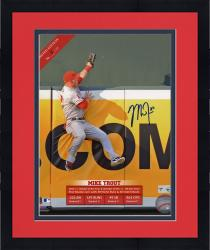 "Framed Mike Trout Los Angeles Angels of Anaheim Autographed 8"" x 10"" Sliding Photograph"