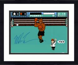 "Framed Mike Tyson Autographed 16"" x 20"" Punch Out Photograph"