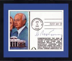 Framed Mikhail Gorbachev Cut Signature Envelope