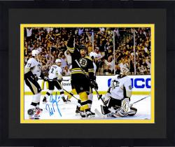 "Framed Milan Lucic Boston Bruins Autographed Celebration Vs. Pittsburgh Penguins 16"" x 20"" Photo"
