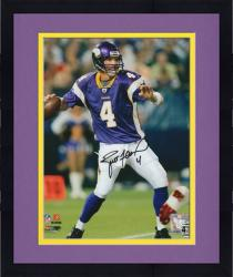 "Framed Minnesota Vikings Brett Favre - Looking Downfield - Autographed 8"" x 10"" Photograph"