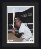 "Framed Minnie Minoso Chicago White Sox Autographed 8"" x 10"" Bat Pose Photograph"