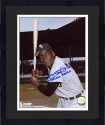 """Framed Minnie Minoso Chicago White Sox Autographed 8"""" x 10"""" MLB Bat Pose Photograph"""