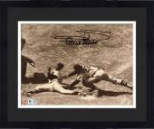 Framed Minnie Minoso Chicago White Sox Autographed 8'' x 10'' Sliding Photograph With Mr. Sox Inscription