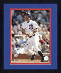 Framed Moises Alou Chicago Cubs Autographed 8'' x 10'' Swinging Photograph