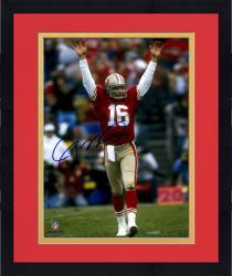 """Framed Joe Montana San Francisco 49ers Autographed 8"""" x 10"""" Arms Up Celebration Photograph"""