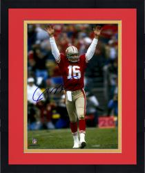"Framed Joe Montana San Francisco 49ers Autographed 8"" x 10"" Arms Up Celebration Photograph"