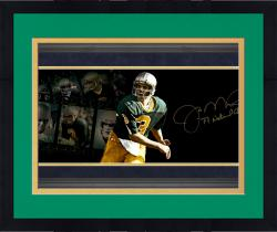 "Framed Joe Montana Notre Dame Fighting Irish Autographed 10"" x 30"" Filmstrip Photograph with 77 National Champ Inscription-#2-15 of Limited Edition of 16"