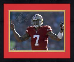 "Framed Colin Kaepernick San Francisco 49ers Autographed 16"" x 20"" Fingers Photograph"