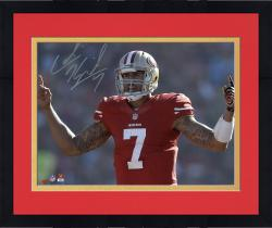 "Framed Colin Kaepernick San Francisco 49ers Autographed 8"" x 10"" Fingers Photograph"
