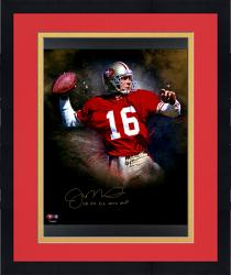 Joe Montana Photograph - Framed MOU 49ER INSC16 20X24 AUT IN FOCUS AUTPHO Mounted Memories