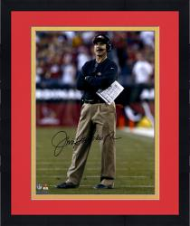 "Framed Jim Harbaugh San Francisco 49ers Autographed 16"" x 20"" Arms Crossed Photograph"
