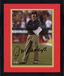 Framed 49ers Jim Harbaugh 8x10 Auto Photo Nfl