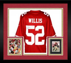 Framed Patrick Willis San Francisco 49ers Autographed Nike Limited Red Jersey