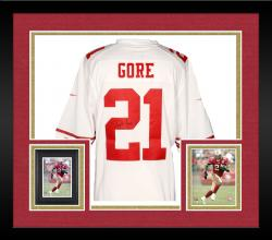 Framed Frank Gore San Francisco 49ers Autographed Nike Limited White Jersey