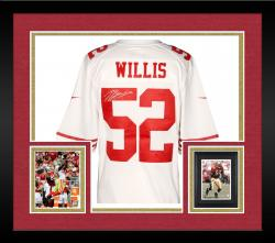 Framed Patrick Willis San Francisco 49ers Autographed Nike Limited White Jersey