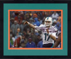 """Framed Ryan Tannehill Miami Dolphins Autographed 8"""" x 10"""" Photograph -"""