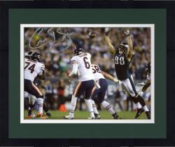 Framed MOU EAG CONNOR BARWIN 8X10 AUT PHOTO NFL AUTPHO --- - Mounted Memories