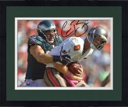 Framed MOU EAG CONNOR BARWIN 8X10 AUT PHOTO NFL AUTPHO - - Mounted Memories