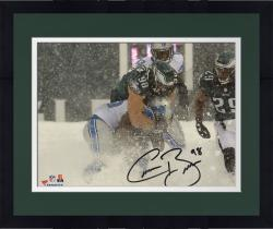 "Framed Connor Barwin Philadelphia Eagles Autographed 8"" x 10"" Snow Tackle Photograph"