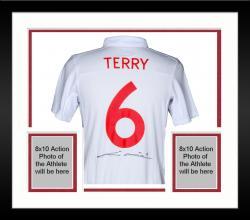 Framed John Terry England Soccer Jersey