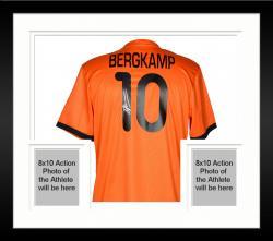 Framed Dennis Bergkamp Holland Autographed Jersey Soccer